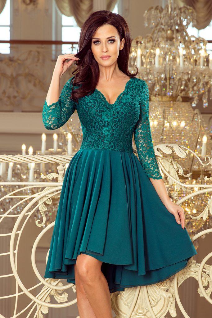 sukienka na wesele butelkowa zieleń