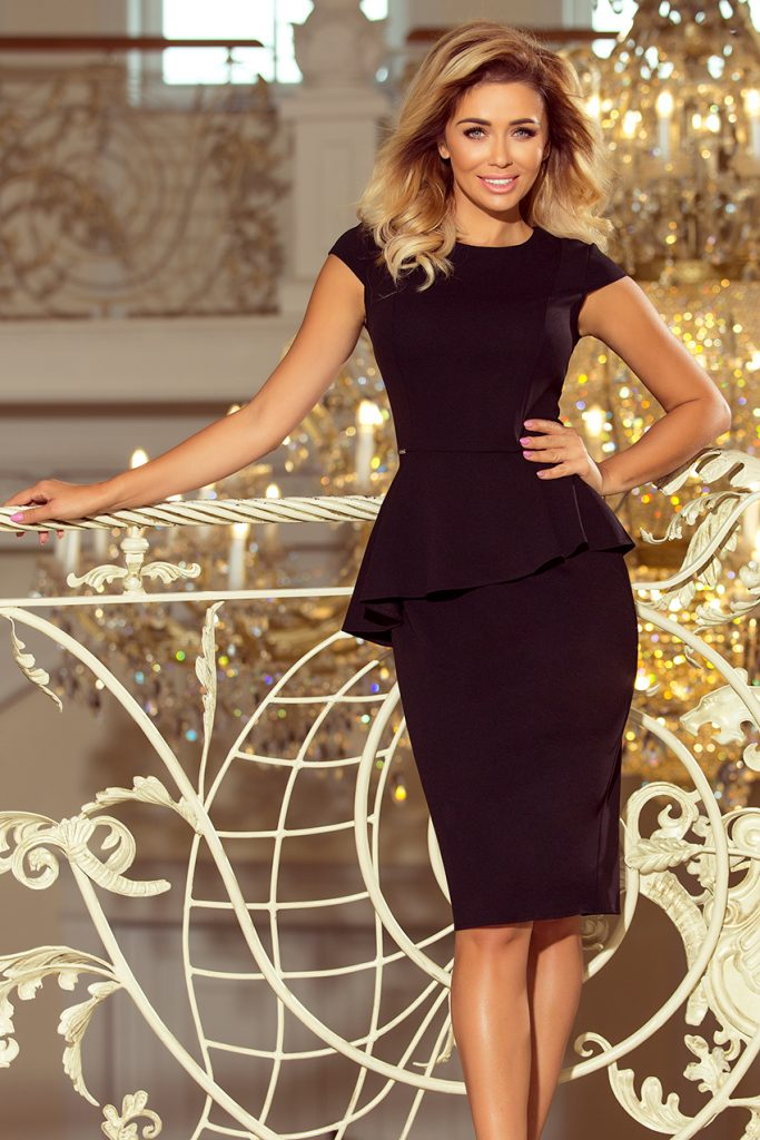 elegancka sukienka czarna do pracy