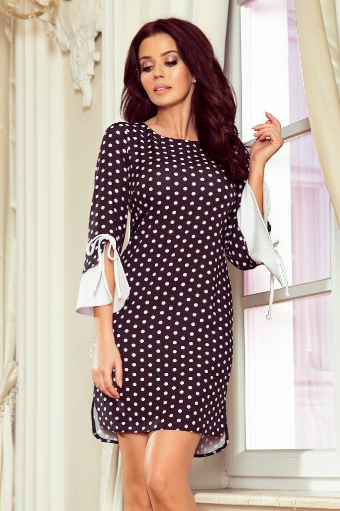 sukienka w groszki elegancka do pracy