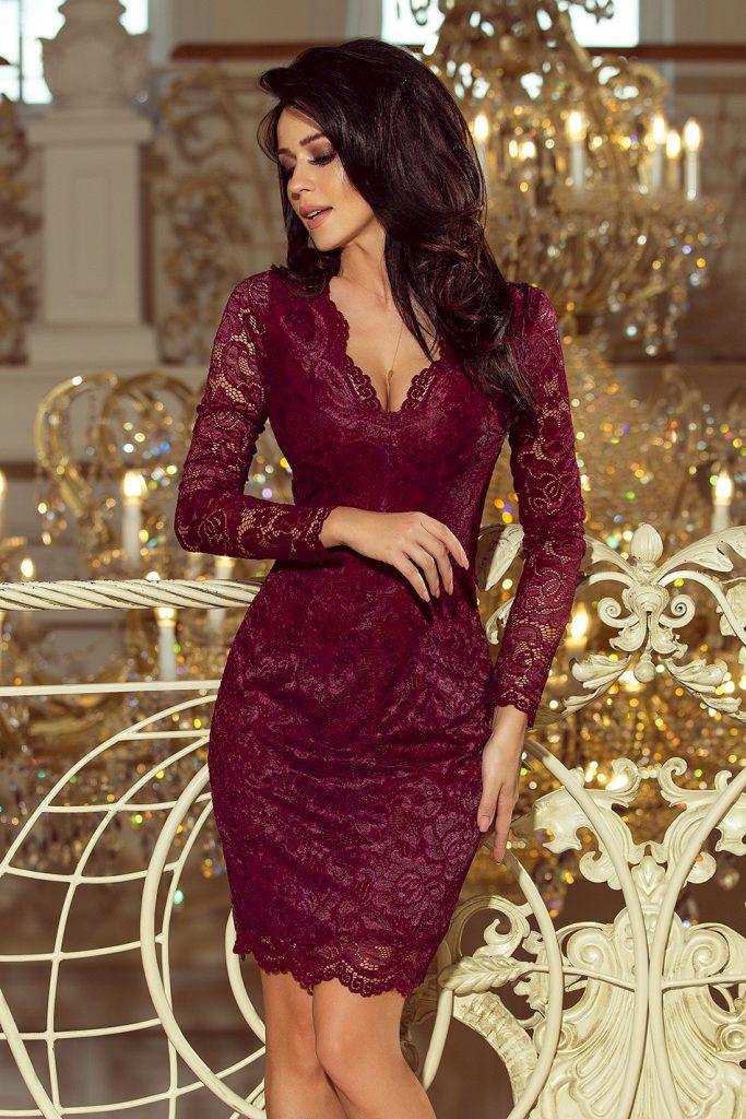 sukienka dopasowana na sylwestra koronkowa
