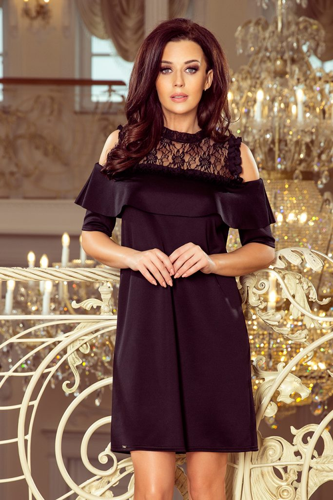 loose black lace dress