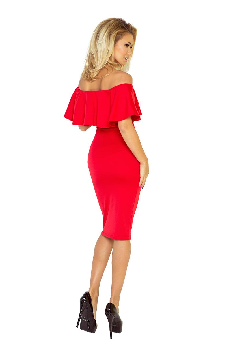 8ac2b5a2f4 138-2 Sukienka hiszpanka - CZERWONA    numoco
