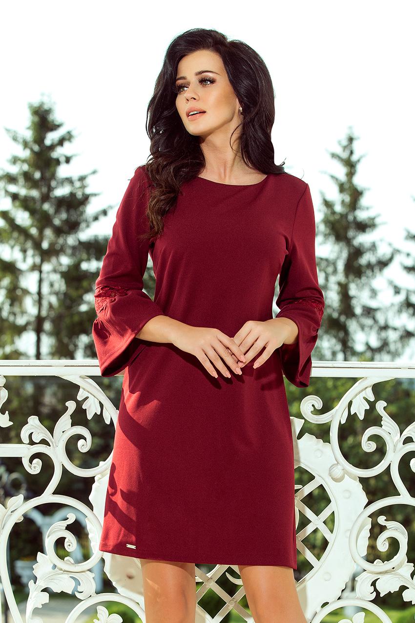 96ff4d6106 190-8 MARGARET sukienka z koronką na rękawkach - BOROWA    numoco