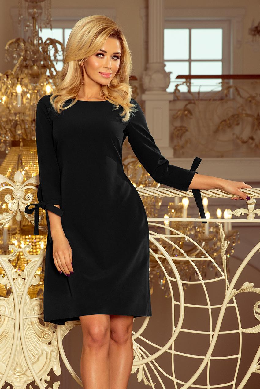 098850edfc 195-8 ALICE Sukienka z kokardkami - CZARNA    numoco