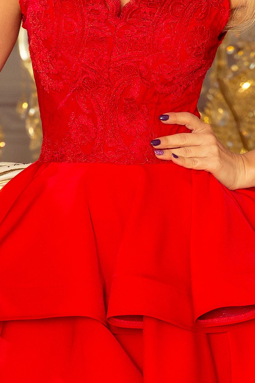 200 4 CHARLOTTE ekskluzywna sukienka z koronkowym dekoltem