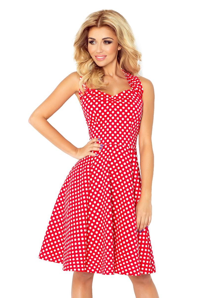 8d6ec38a 30-19 Rockabilly pin up sukienka - czerwona w białe MAŁE GĘSTE ...