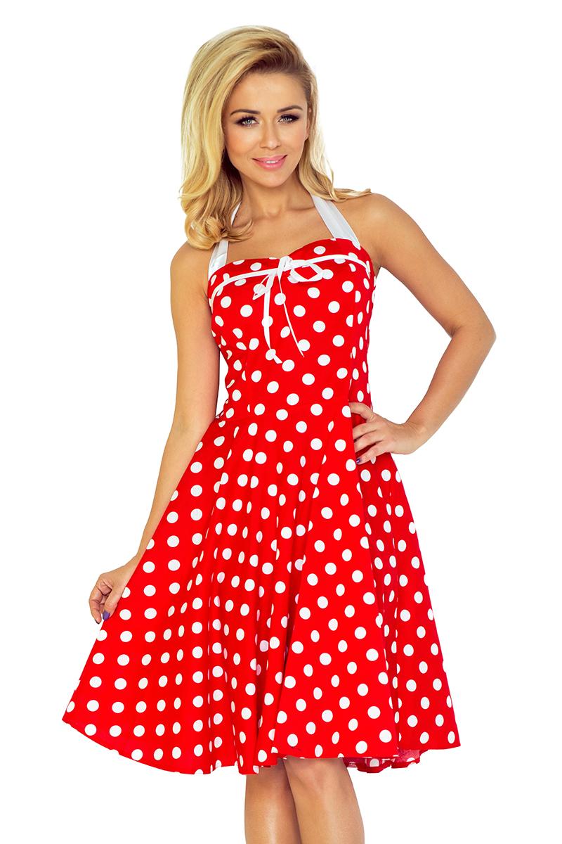 189e959a 30-21 Rockabilly pin up sukienka - CZERWONA w białe kropki - BEZ ...
