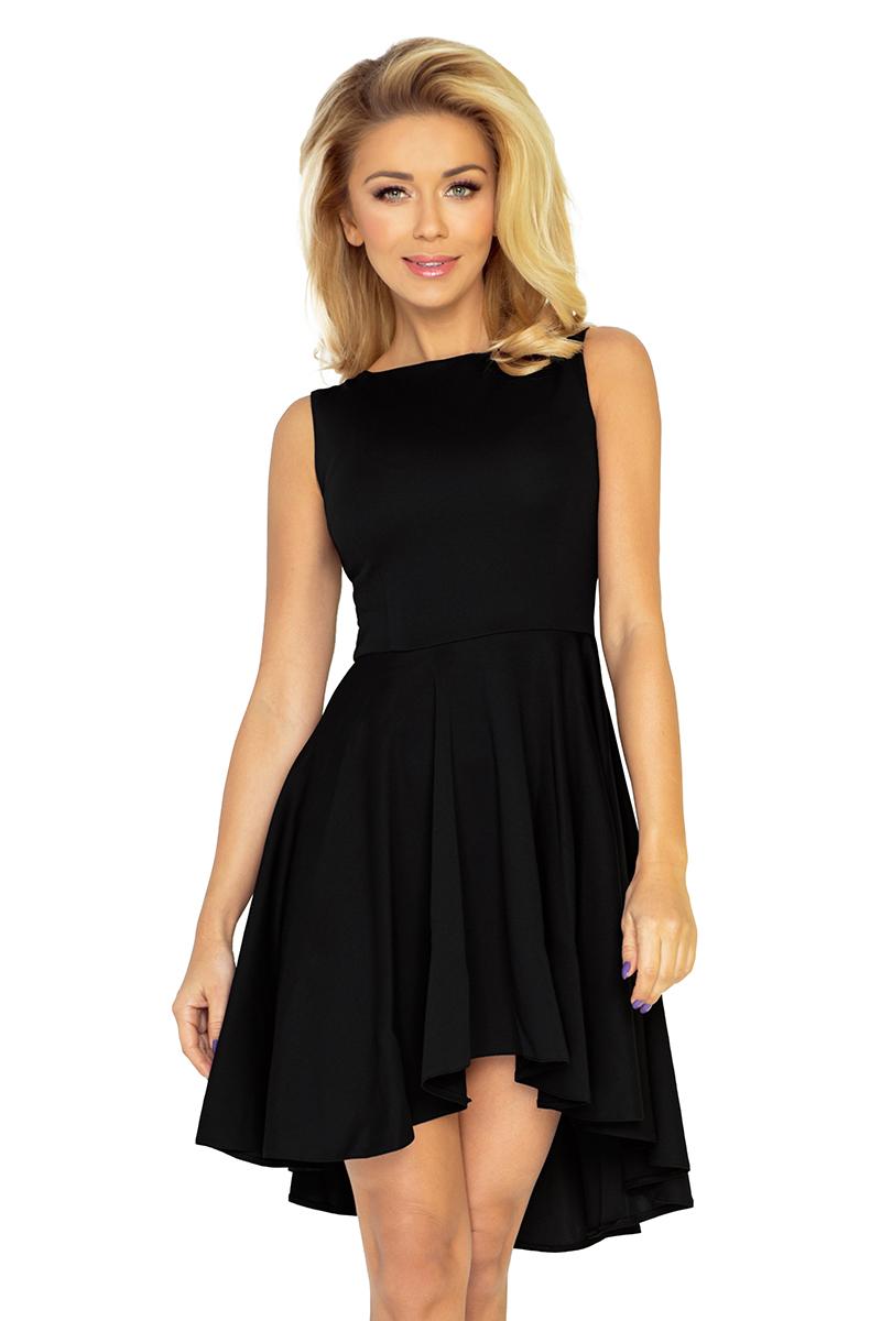 a63915b473 33-4 Lacosta - Ekskluzywna sukienka z dłuższym tyłem - CZARNA    numoco