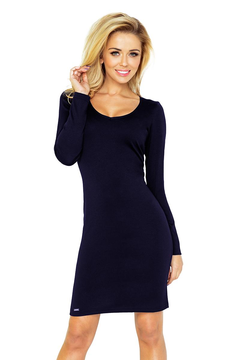 b6b5ccfd13 92-5 SIMPLE Sukienka - GRANATOWA    numoco
